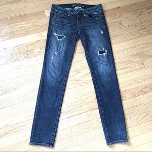 AEO Distressed Super Stretch Skinny Jeans